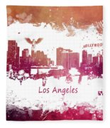Los Angeles California Skyline Fleece Blanket