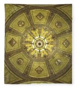Los Angeles City Hall Rotunda Ceiling Fleece Blanket