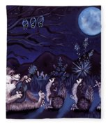 Los Cantantes Or The Singers Fleece Blanket