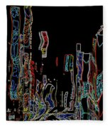 Losing Equilibrium - Abstract Art Fleece Blanket