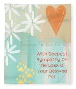 Loss Of Beloved Pet Card Fleece Blanket