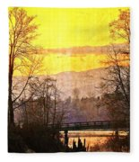 Lost Along The River Fleece Blanket