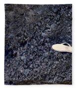 Lost Flip Flop On Lava Rock Fleece Blanket