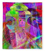 Lost In Abstract Space 20130611 Long Version Fleece Blanket
