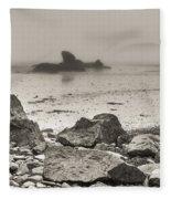 Lost In Fog II Fleece Blanket