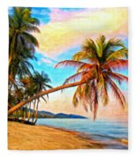Lost In Paradise Fleece Blanket