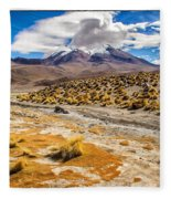 Lost In The Bolivian Desert Framed Fleece Blanket
