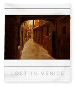 Lost In Venice Poster Fleece Blanket
