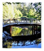 Lost Lagoon Bridge Fleece Blanket