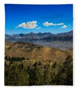 Lost River Mountains Fleece Blanket