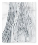 Lothlorien Mallorn Tree Fleece Blanket
