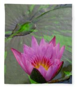 Lotus Blossom Fleece Blanket