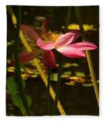 Lotus Flower At The West Lake Fleece Blanket