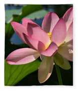 Lotus - Flowers Fleece Blanket