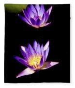 Lotus Flowers Fleece Blanket