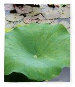 Lotus Leaf Fleece Blanket