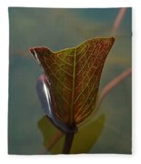Lotus Leaf Fleece Blanket
