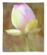 Lotus Looking To Bloom Fleece Blanket