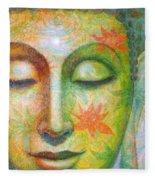 Lotus Meditation Buddha Fleece Blanket