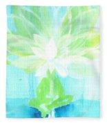 Lotus Petals Awakening Spirit Fleece Blanket