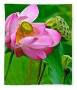 Lotus Fleece Blanket