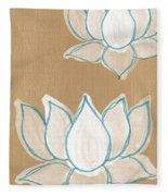 Lotus Serenity Fleece Blanket