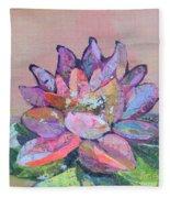 Lotus V Fleece Blanket
