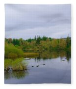 Lough Eske In The Morning Fleece Blanket