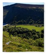 Lough Tay Below Luggala Mountain Fleece Blanket