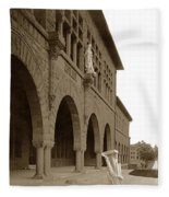 Louis Agassiz In The Concrete Most Famous Image Associated With Stanford University 1906 Earthquake Fleece Blanket