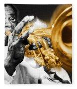 Louis Armstrong Fleece Blanket
