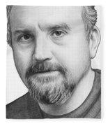 Louis Ck Portrait Fleece Blanket