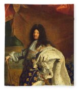 Louis Xiv In Royal Costume, 1701 Oil On Canvas Detail Of 59867 Fleece Blanket