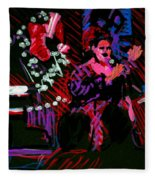 Louise At Jazz Corner Fleece Blanket