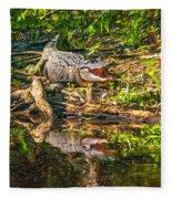 Louisiana Bayou 2 - Paint Fleece Blanket