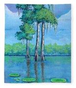 Louisiana Cypress Fleece Blanket
