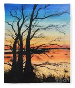 Louisiana Lacassine Nwr Treescape Fleece Blanket