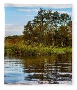 Louisiana Lake Fleece Blanket