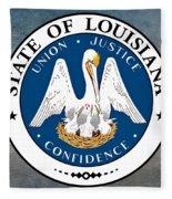 Louisiana State Seal Fleece Blanket