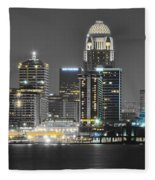Louisville Lights Up Fleece Blanket
