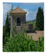Lourmarin Castle In Provence Fleece Blanket