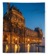 Louvre Sunset Fleece Blanket