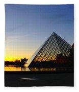 Louvre's Last Light Fleece Blanket