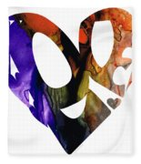 Love 1 - Heart Hearts Romantic Art Fleece Blanket