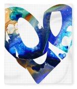 Love 4 - Heart Hearts Romantic Art Fleece Blanket