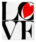 Love All Around Fleece Blanket