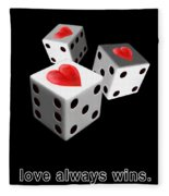 Love Always Wins Fleece Blanket