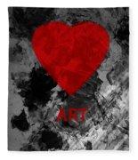 Love Art 1 Fleece Blanket
