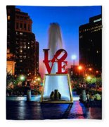 Love At Night Fleece Blanket