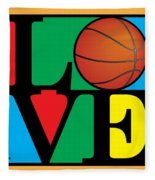 Love Basketball Fleece Blanket